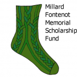Millard Fontenot memorial Scholarship Fund Sock Logo